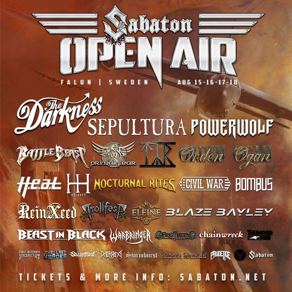10 orsaker att besöka Sabaton Open Air 2018.